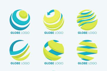 9款抽象地球标志矢量素材