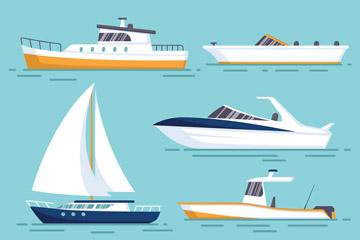 6款创意船舶设计矢量素材