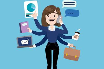 创意繁忙能干的商务女子乐虎国际线上娱乐图
