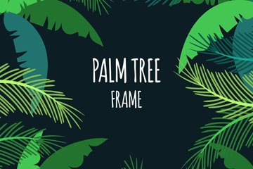 绿色棕榈树框架矢量素材
