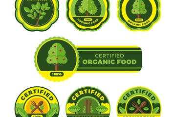 7款创意有机食品标签矢量素材