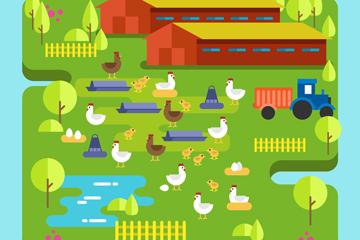 绿色农场设计矢量素材
