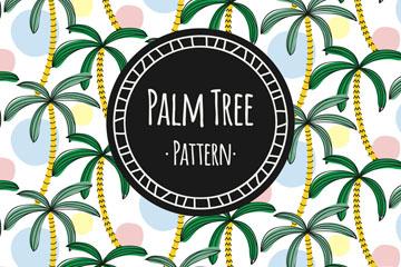 绿色棕榈树无缝背景矢量图