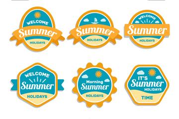 6款创意夏季标签矢量素材