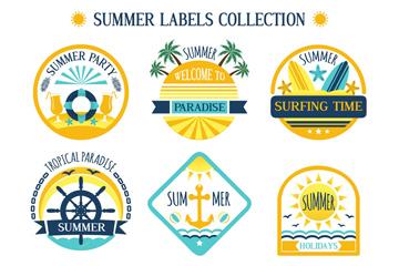 9款彩色夏季度假标签矢量素材