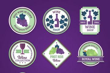 9款创意葡萄酒标签矢量素材