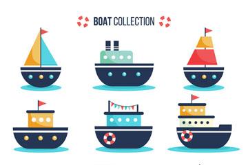 9款创意卡通船舶矢量素材