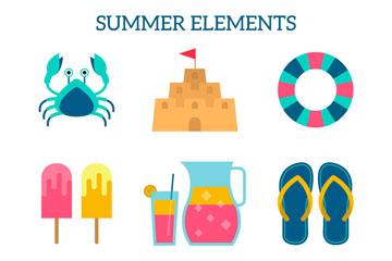 13款彩色夏季沙滩元素乐虎国际线上娱乐乐虎国际