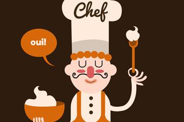 可爱厨师设计矢量素材