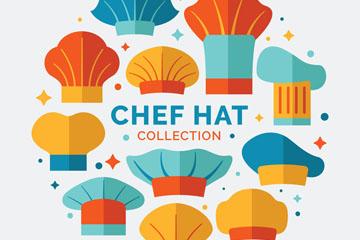 11款彩色厨师帽矢量素材
