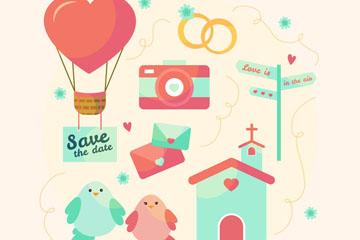 8款可爱婚礼元素乐虎国际线上娱乐乐虎国际