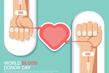 创意世界献血者日手臂矢量素材