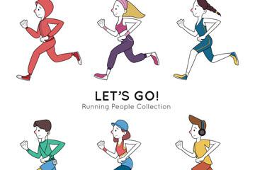 6款创意跑步人物设计乐虎国际线上娱乐图