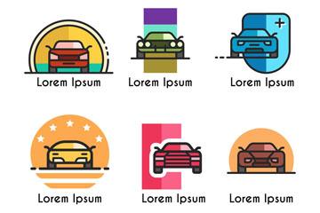 6款彩色车辆标志矢量素材