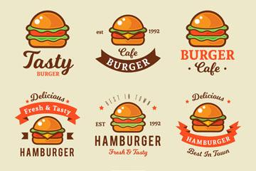 9款彩色汉堡包标志矢量素材
