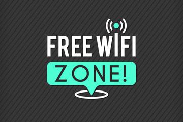 创意免费无线网络标志矢量图