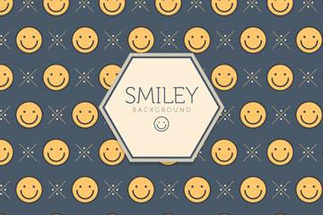 创意黄色笑脸无缝背景矢量图