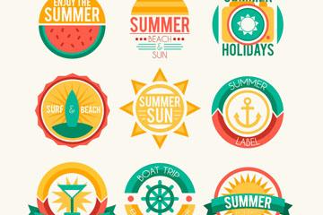 9款创意夏日假期标签矢量素材