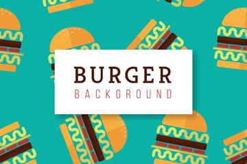 彩色汉堡包无缝背景矢量图