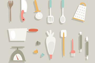 15款创意厨房用品矢量素材
