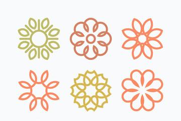 9款抽象花朵标志矢量素材