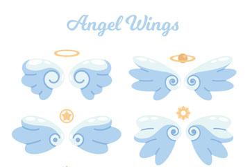 6款创意天使翅膀设计矢量素材