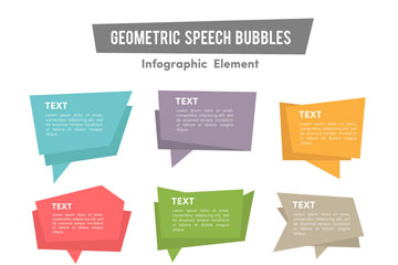 9款创意语言气泡矢量素材