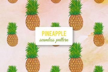 创意菠萝无缝背景矢量素材