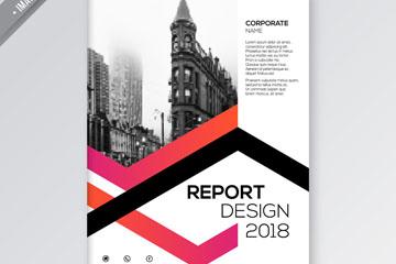 创意城市建筑商务报告矢量素材