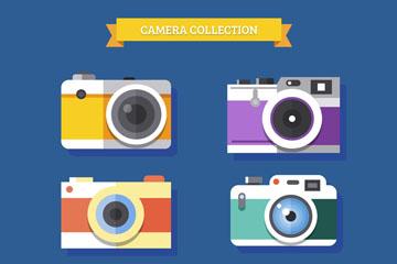 6款扁平化照相机矢量素材