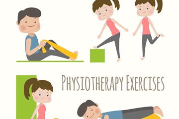 5款创意做物理治疗的人物矢量图