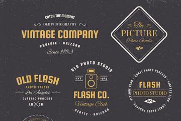 7款创意摄影元素标志矢量素材
