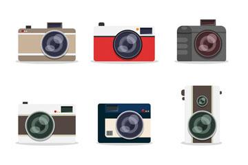 9款精美照相机设计矢量素材