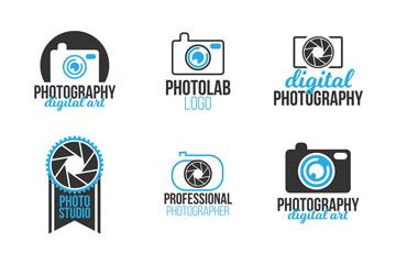 9款创意商务摄影标志矢量素材