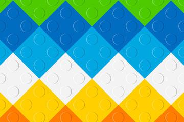 彩色乐高积木菱形图案背景矢量亚虎国际
