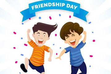 创意国际友谊日2个男子矢量亚虎国际