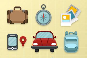 10款精致旅行图标矢量素材