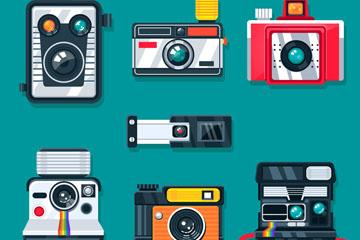 7款创意质感照相机矢量素材
