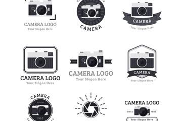 9款黑色照相机标志矢量素材