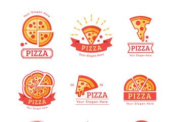 9款彩色披萨标志亚虎娱乐手机下载安装矢量亚虎娱乐