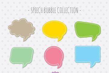 9款创意空白语言气泡矢量素材