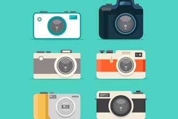 6款时尚照相机设计矢量素材