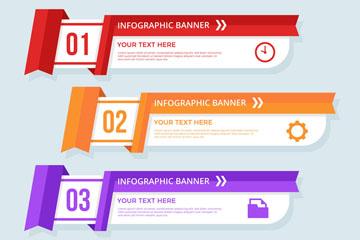 彩色商务信息图设计矢量素材