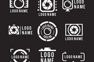 9款抽象照相机标志矢量素材