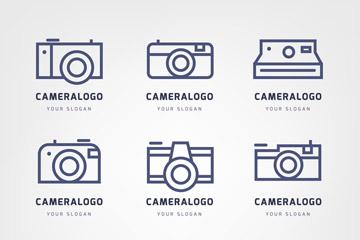 9款创意照相机标志矢量素材