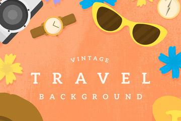 7个创意复古旅行物品矢量素材