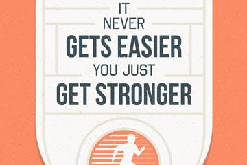 创意运动健身隽语海报矢量素材