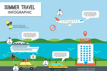 创意夏季旅行信息图矢量素材
