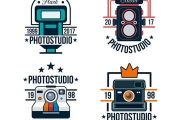 4款彩色照相机标志矢量素材