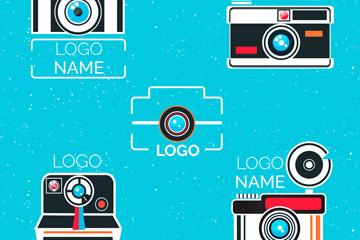 5款抽象照相机标志矢量素材